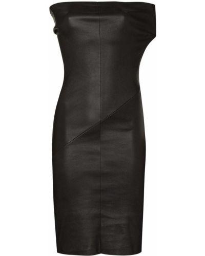 Sukienka kopertowa - czarna Rick Owens