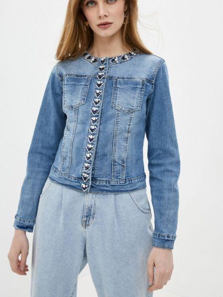 Джинсовая куртка осенняя синий Softy