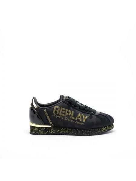 Buty sportowe skorzane - białe Replay