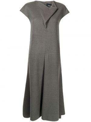 Трикотажное платье миди - серое Goen.j