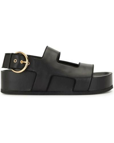 Czarne sandały Neous