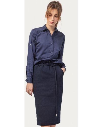 Джинсовое платье прямое синее Stimage