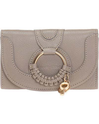 Szary portfel skórzany na co dzień See By Chloe