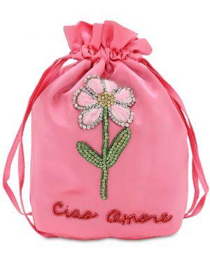 Ażurowa różowa kopertówka Giada Benincasa