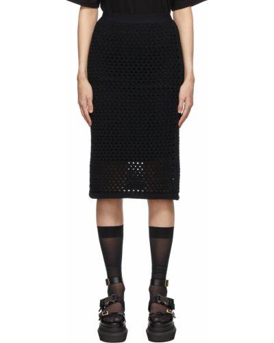 Czarna spódnica bawełniana Pushbutton