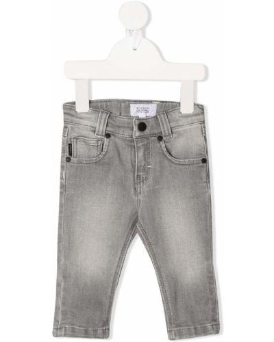 Кожаные серые джинсы на пуговицах Givenchy Kids