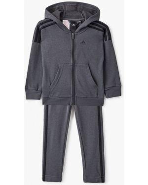 Спортивный костюм костюмный серый Adidas