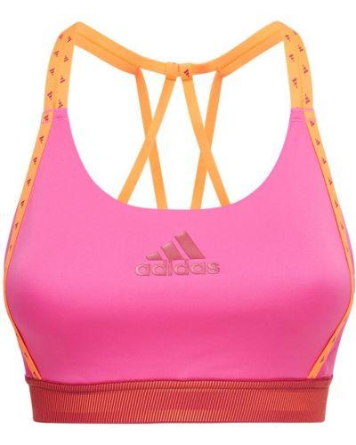 Różowy top Adidas Performance