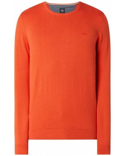 Pomarańczowy sweter bawełniany S.oliver Red Label