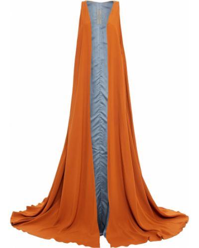 Pomarańczowa kamizelka bawełniana Rick Owens