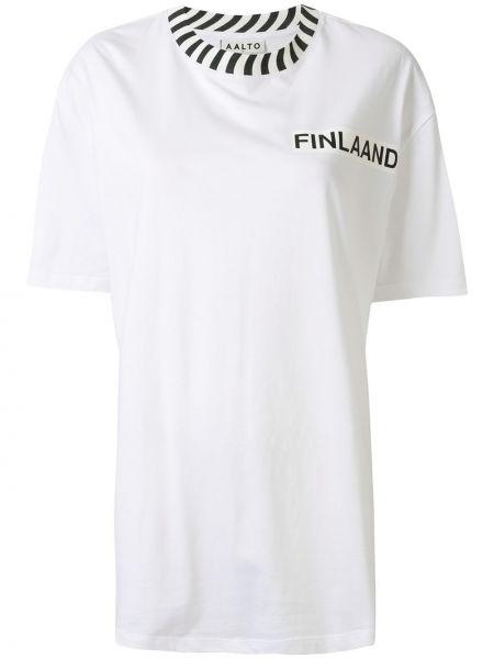 Biały t-shirt bawełniany Aalto