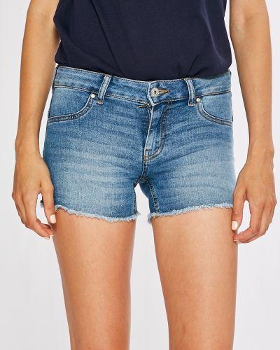 Джинсовые шорты с заниженной талией синий Only