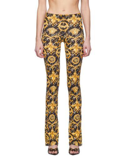 Свободные брюки стрейч расклешенные Versace