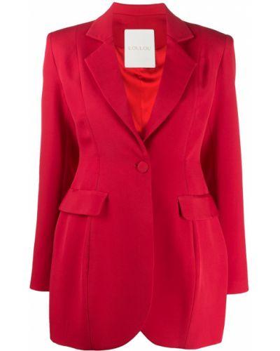 Однобортный красный приталенный удлиненный пиджак Loulou