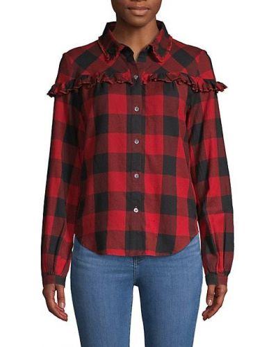 Черная рубашка с длинными рукавами в клетку Frame Denim