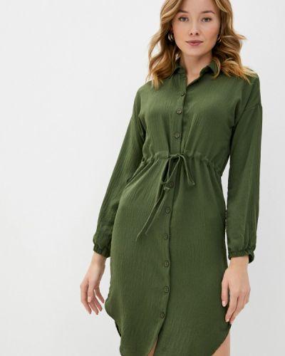 Зеленое платье-рубашка Trendyol