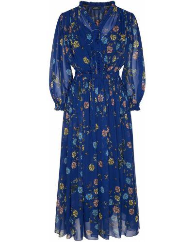 Шелковое платье макси - синее Alena Akhmadullina