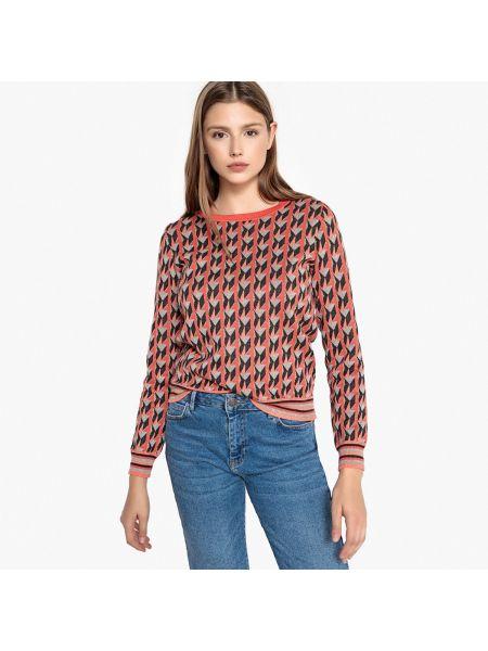 Пуловер на пуговицах жаккардовый Suncoo