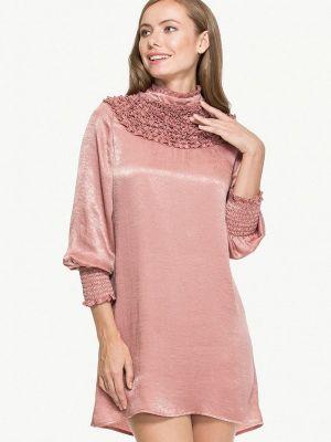 Вечернее платье розовое осеннее Cavo