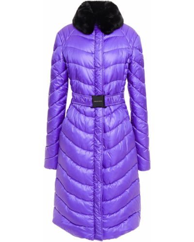 Стеганое пальто из искусственного меха с воротником Emilio Pucci