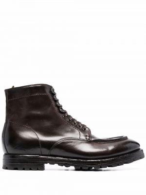 Gumowe ankle boots koronkowe plaskie Officine Creative