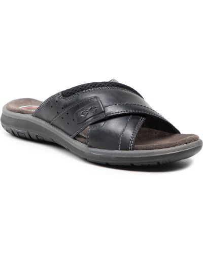 Czarne sandały na lato Salamander