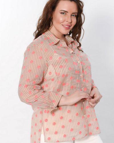 Хлопковая блузка - бежевая Luisa Cerano