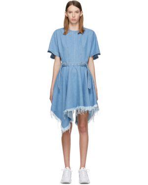 Джинсовое платье с поясом с карманами Marques Almeida