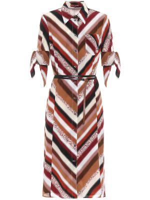 Платье миди в полоску с завышенной талией Altuzarra