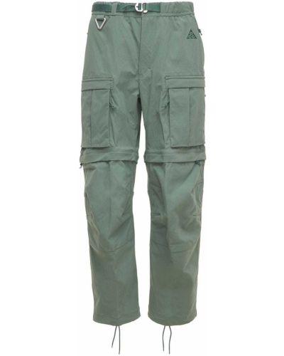 Zielone spodnie z paskiem Nike Acg