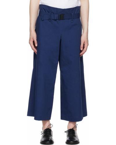 Czarne spodnie z paskiem bawełniane 132 5. Issey Miyake