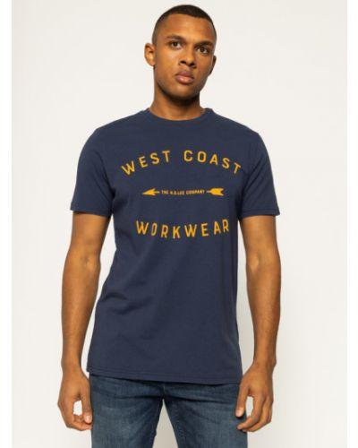 T-shirt - granatowa Lee