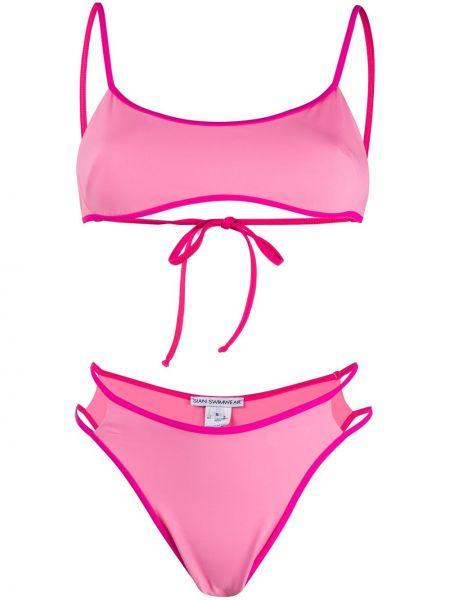 Розовый купальник с вырезом с высокой посадкой без рукавов Sian Swimwear