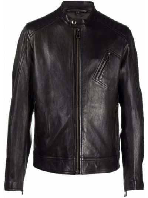 Черная длинная куртка Belstaff
