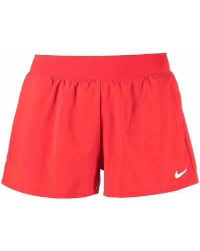 Красные шорты из эластана Nike