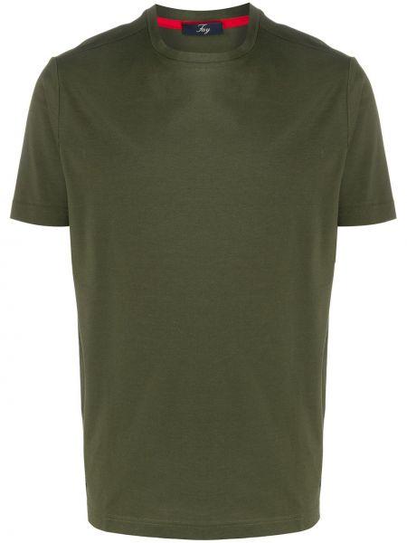 Koszula krótkie z krótkim rękawem prosto zielona Fay