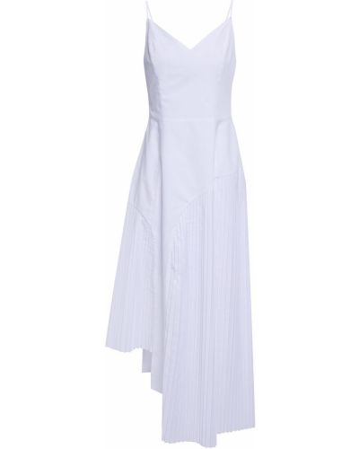Хлопковое с ремешком белое платье миди Each X Other