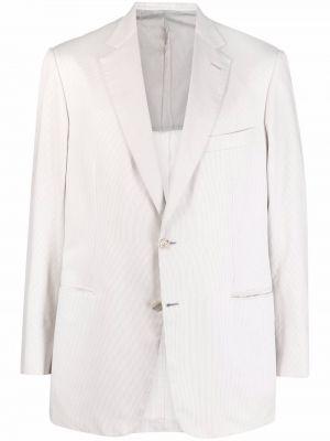 Белый хлопковый пиджак Brioni