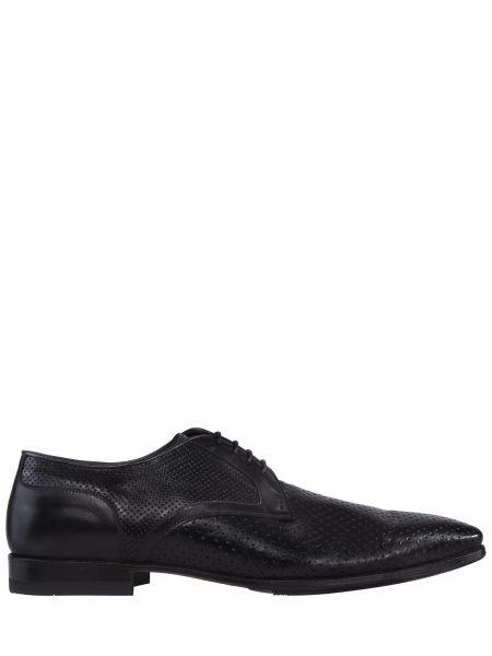 Кожаные классические черные классические туфли на каблуке Franceschetti