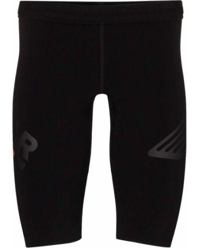 Спортивные черные шорты с поясом Soar
