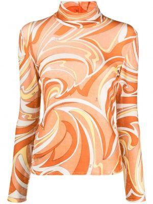 Оранжевый прямой топ Emilio Pucci
