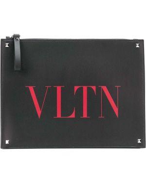 Torba sprzęgło czarny prostokątny Valentino