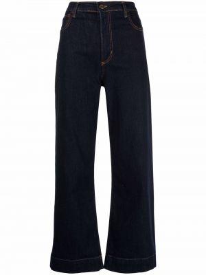Синие укороченные джинсы ..,merci
