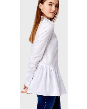 Блузка с длинным рукавом с баской классическая Ostin