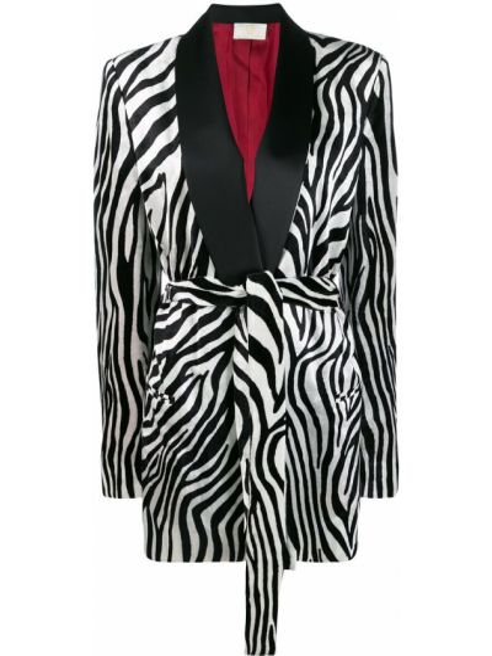 Черный удлиненный пиджак с подкладкой из вискозы Sara Battaglia