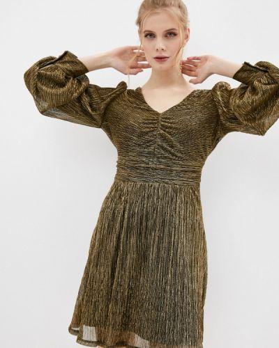 Вечернее платье золотое Naf Naf