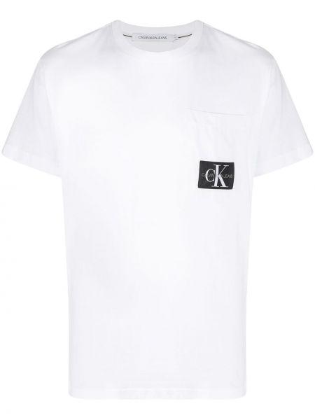 Koszula krótkie z krótkim rękawem dżinsowa z logo Calvin Klein Jeans