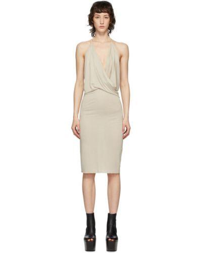 Платье с открытой спиной с отложным воротником Rick Owens Lilies