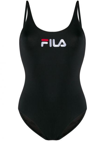 Черный купальник с вышивкой Fila