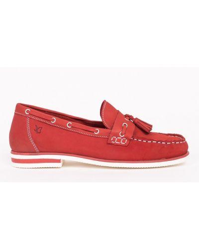 Красные брюки в полоску Caprice